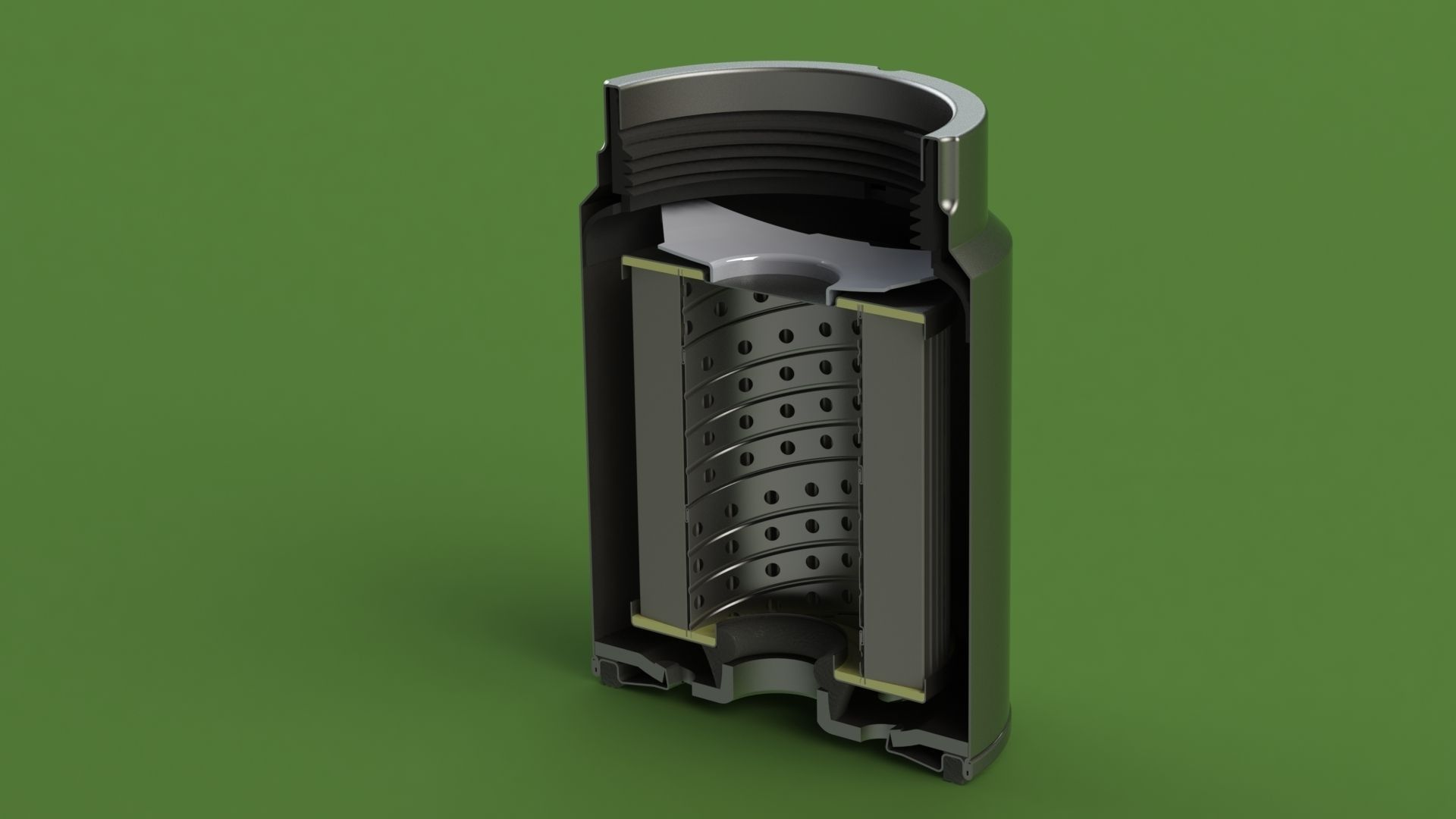 MANN PL270 disel fuel filter | 3D model on