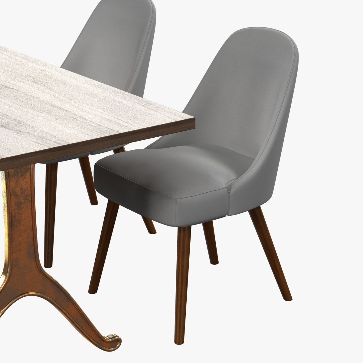 Mid century dining set best mid century dining chairs for for Dining room table 3ds max
