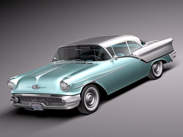 oldsmobile 88 coupe 1957 3d model max obj mtl 3ds fbx c4d lwo lw lws 1