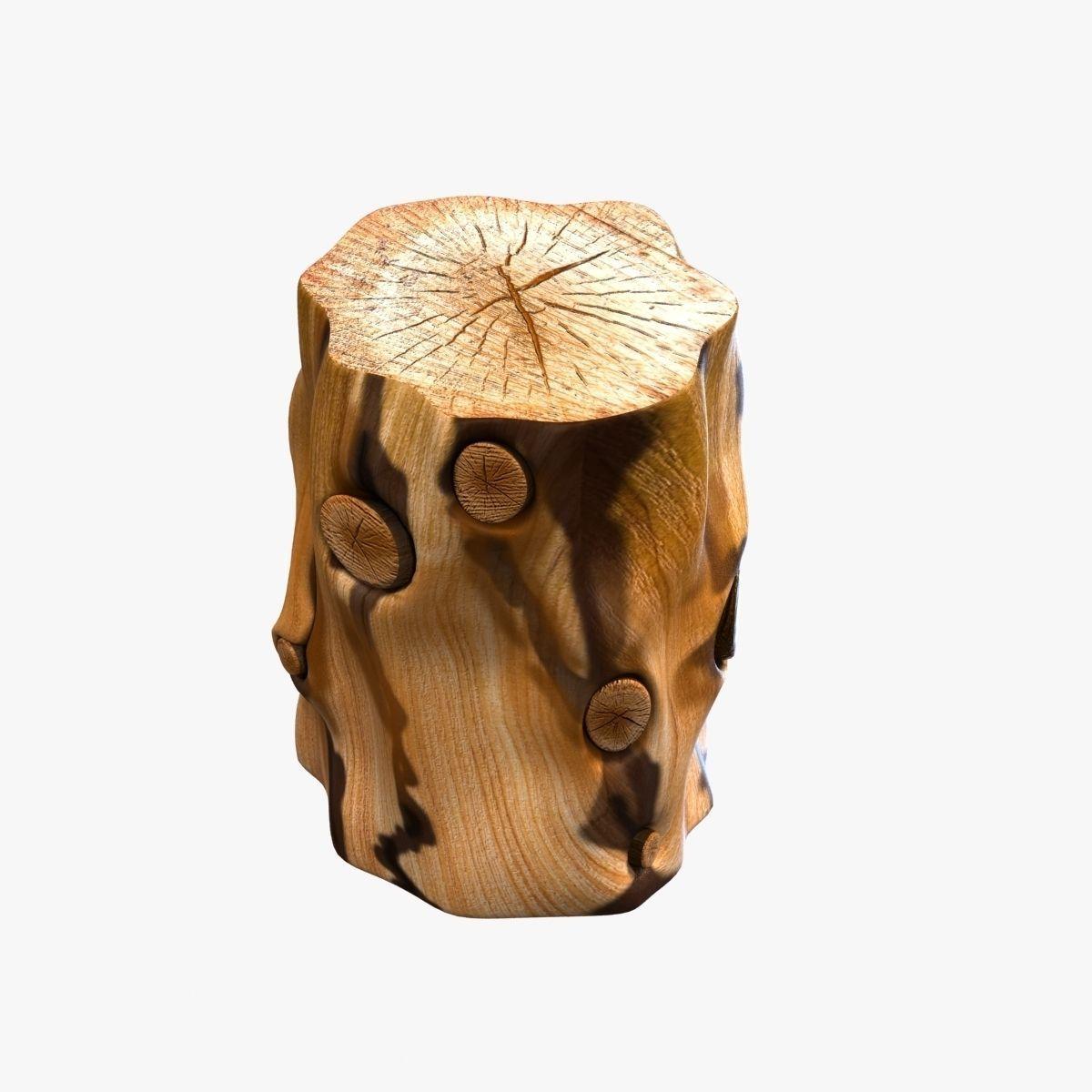 Tree stump side table -  West Elm Natural Tree Stump Side Table 3d Model Max Obj 3ds Fbx Mtl 4