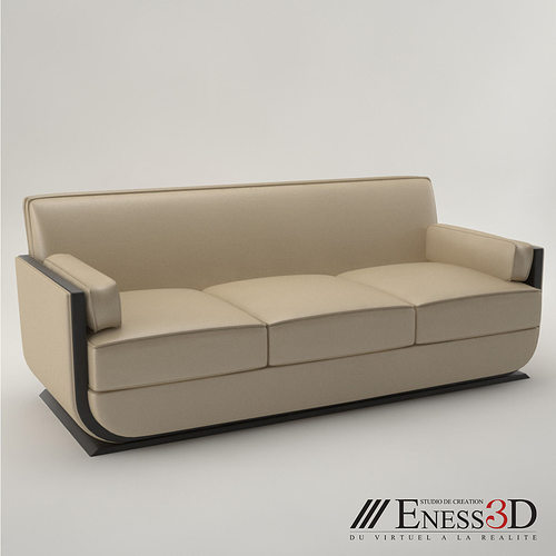 pro art deco sofa 1930 3d model cgtrader. Black Bedroom Furniture Sets. Home Design Ideas