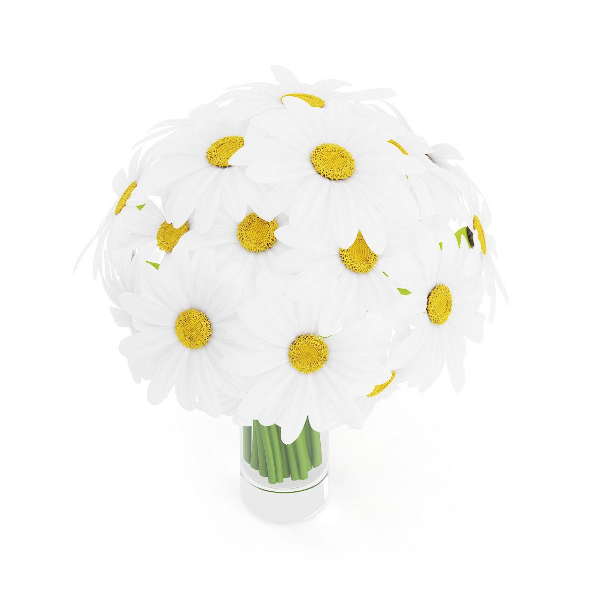 Daisies in glass vase 3d cgtrader daisies in glass vase 3d model max obj fbx c4d mtl 1 reviewsmspy