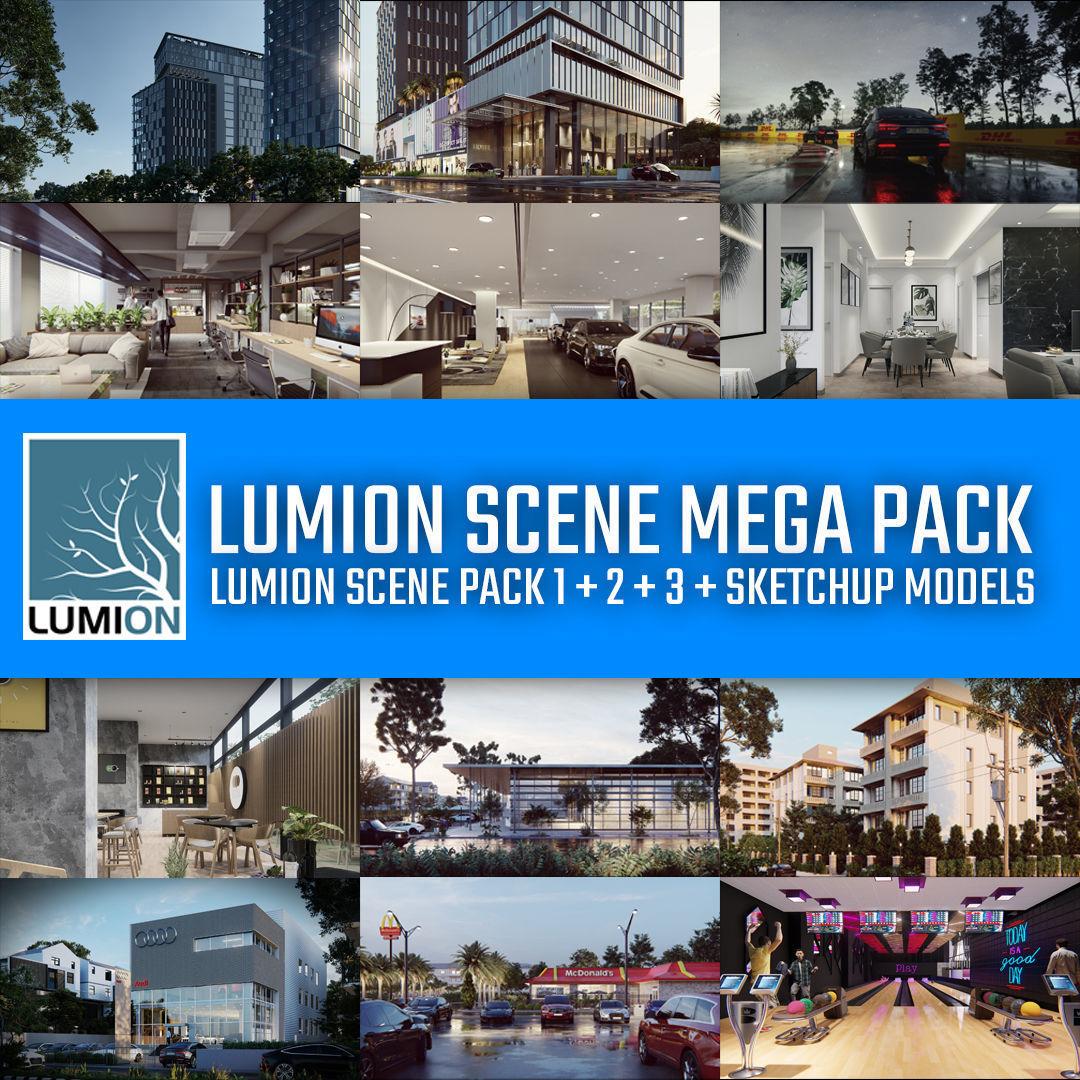 Lumion Scene Mega Pack - 36 Lumion and Sketchup 3D Models