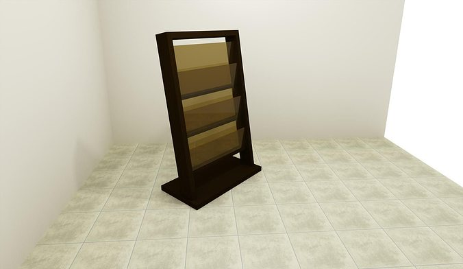 Newspaper rack 1 Pamono Newspaper Rack 3d Model 3ds Dwg Skp Second Life Marketplace 3d Printable Model Newspaper Rack Cgtrader