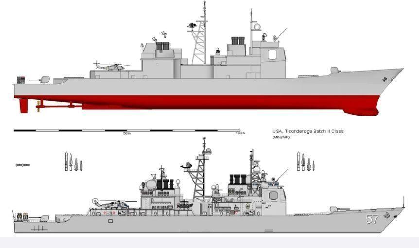 USN CG-47 Ticonderoga-class Guided Missile Cruiser