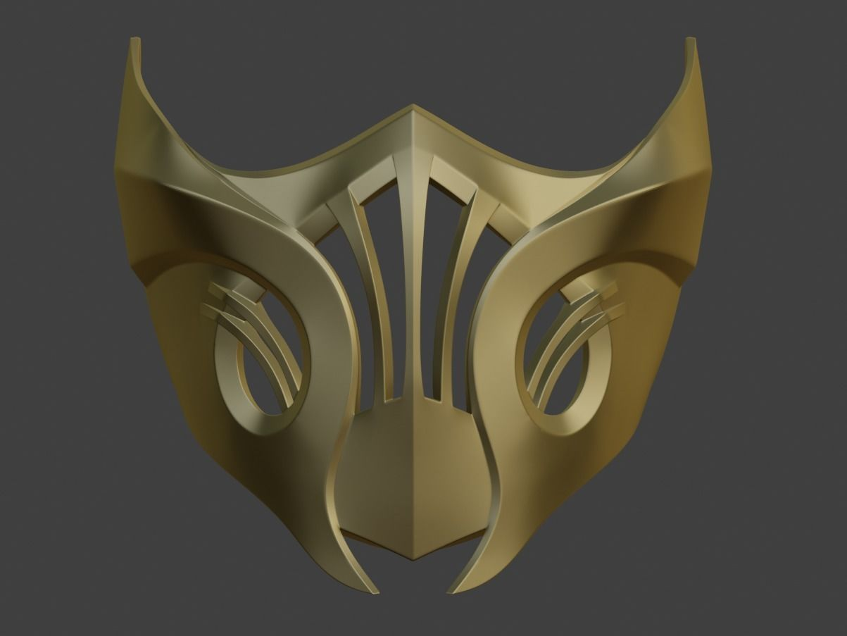 Scorpion Samurai Mask From Mortal 3d Printable Model 3