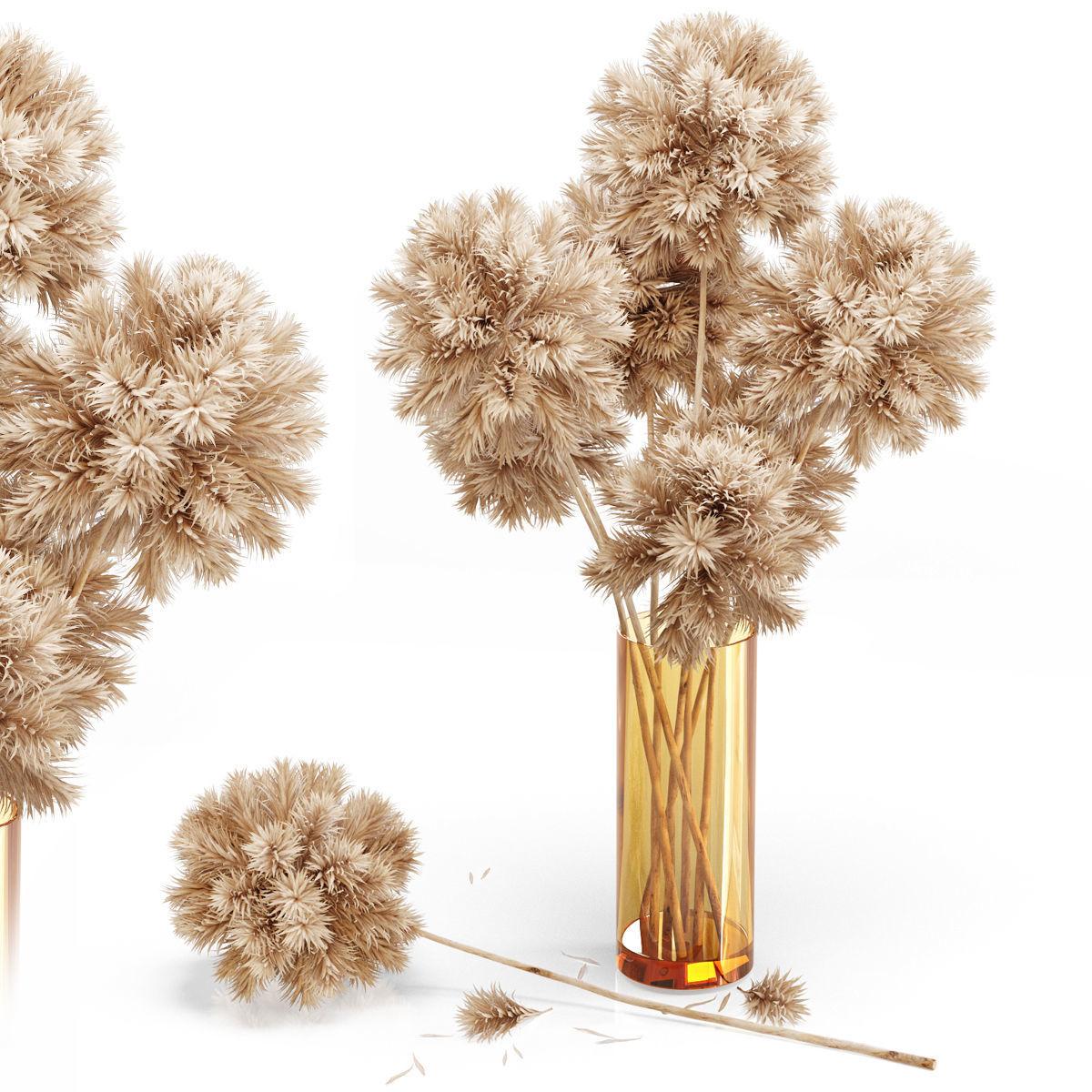 Decor set 10 Artificial onion grass flower 3D   CGTrader