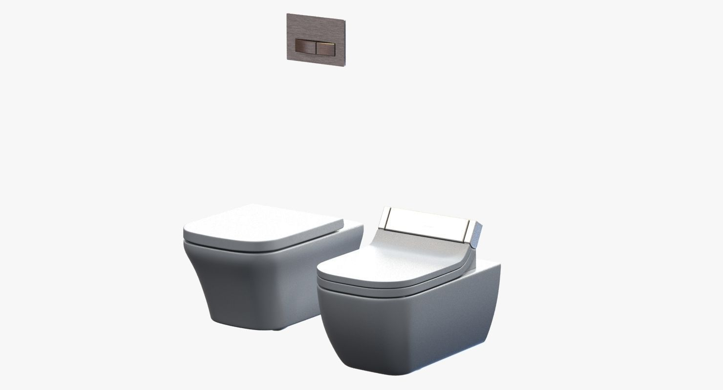 duravit happy d toilet 2 3d model max obj 3ds fbx mtl