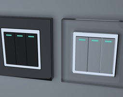 3d model retrotouch rts2005 mechanical light switch 3 gang