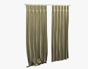 Pinch Pleat Heading Curtain 3D