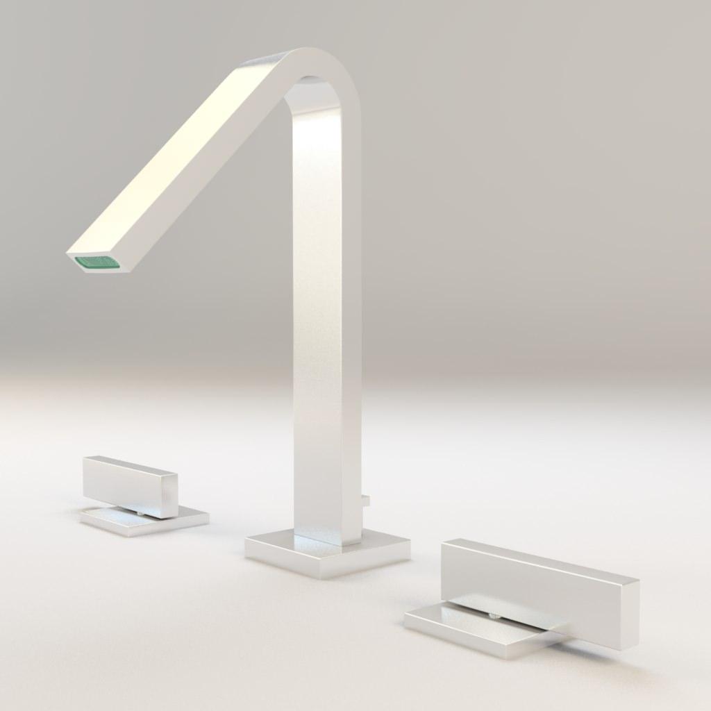 kohler loure widespread bathroom sink faucet 3d model
