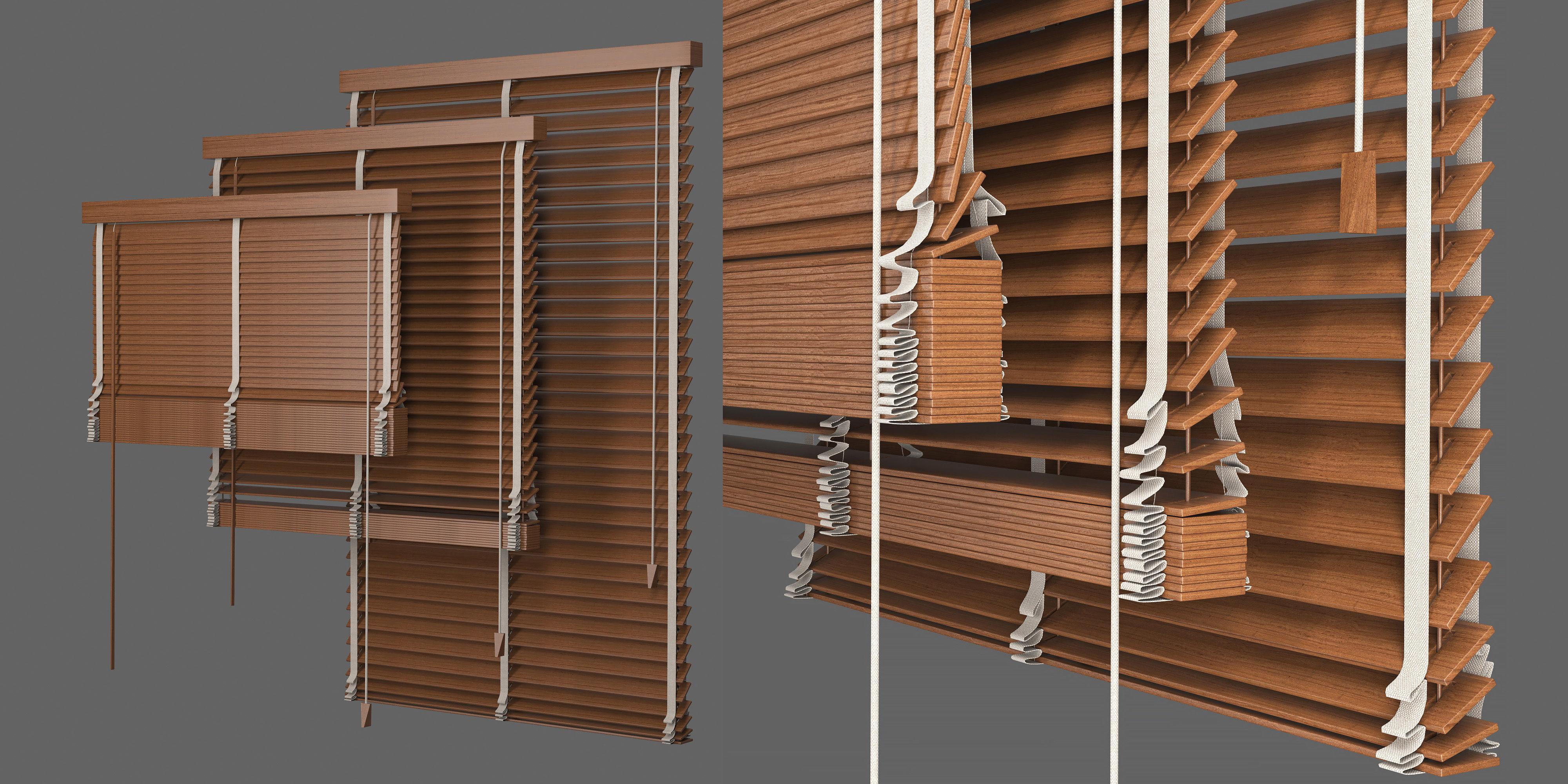 Set Blinds Wooden 1