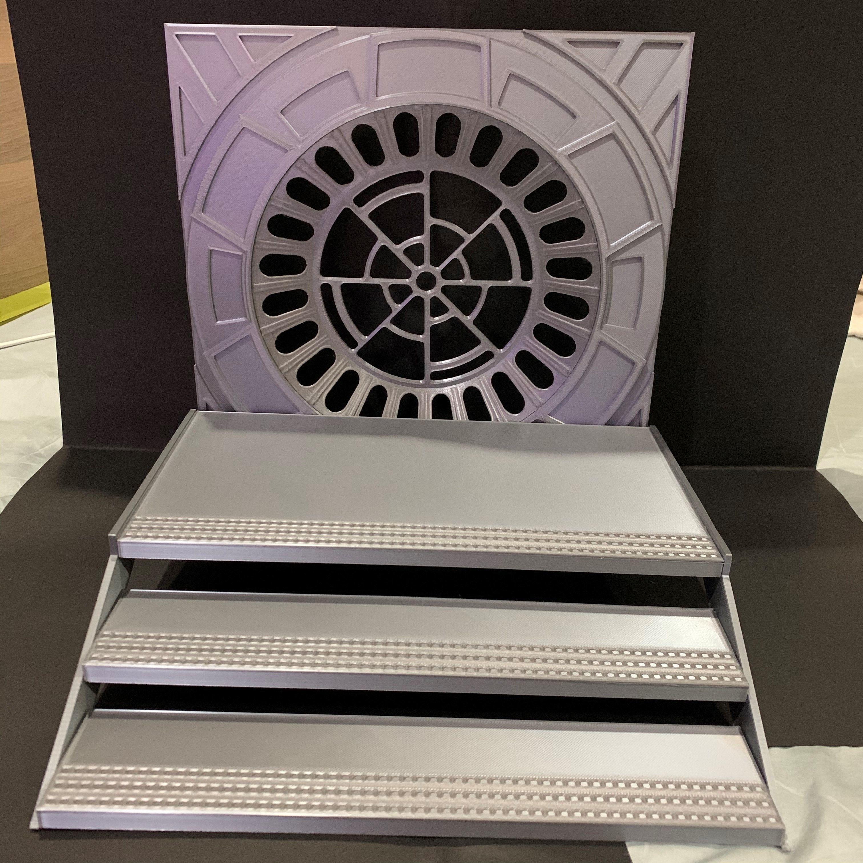 Death Star Emperor Throne Room Diorama Staircase 6 inch