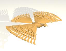 3D model Happy bird