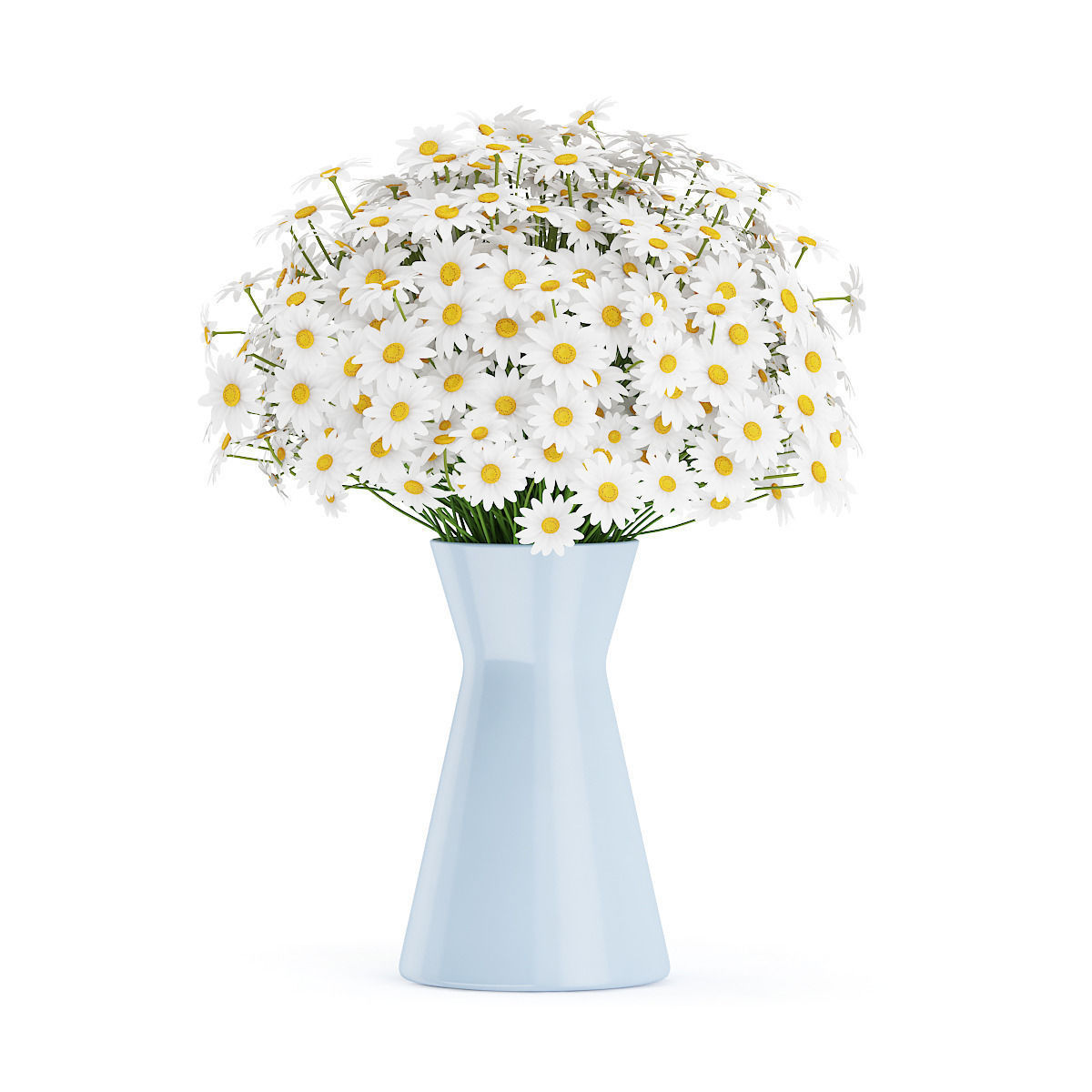 3d model small daisies in blue vase cgtrader small daisies in blue vase 3d model max obj fbx c4d mtl 1 reviewsmspy