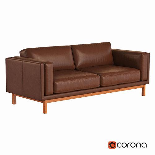 West Elm Dekalb Leather Sofa Model