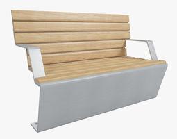 3D model Outdoor Bench 8