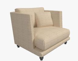 nube italia remind armchair 3d model max obj 3ds fbx