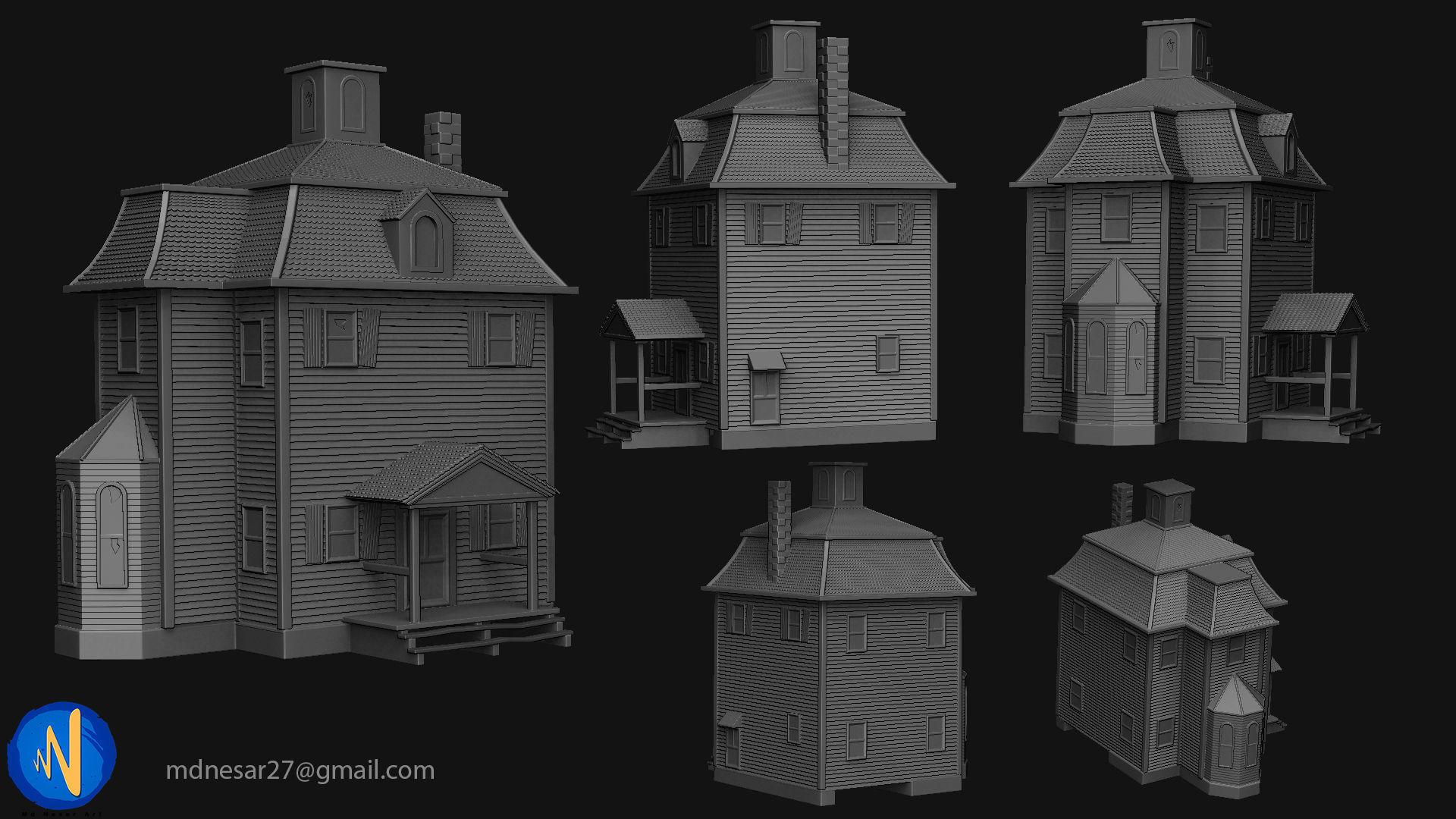 Wodden house for 3d print