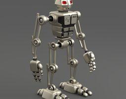 robot aru bipedal humanoid walker 3d model rigged