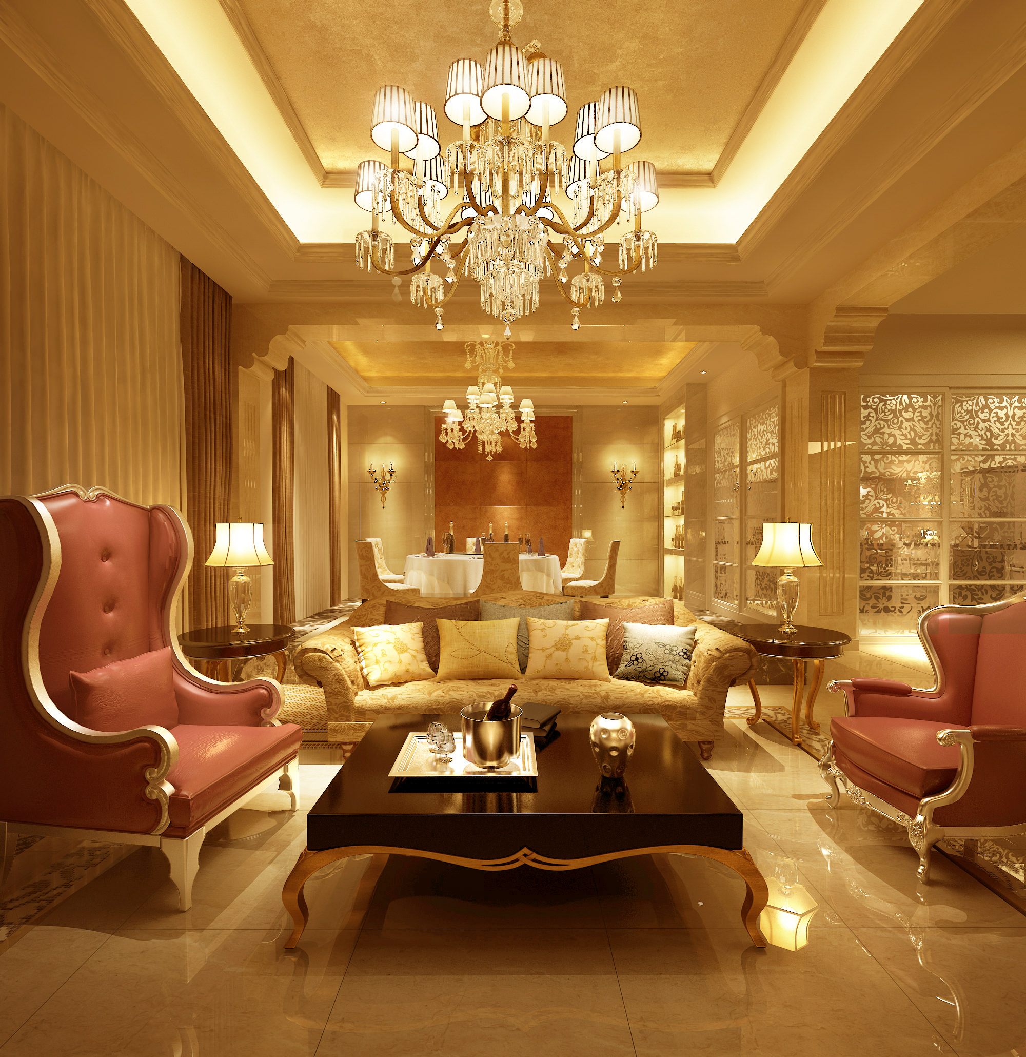 Luxury Living Rooms Furniture Plans Impressive Luxury Living Room Livingroom 3D  Cgtrader Design Inspiration
