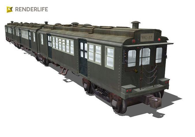 old chicago subway train 3d model max obj mtl fbx c4d ma mb 1