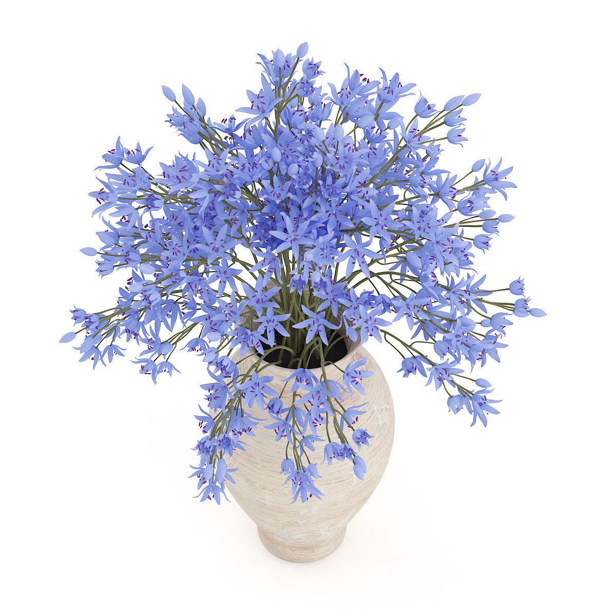 Blue flowers in ceramic vase 3d model cgtrader blue flowers in ceramic vase 3d model max obj fbx c4d mtl 3 reviewsmspy