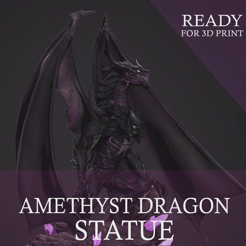 Amethyst Dragon for 3D Print