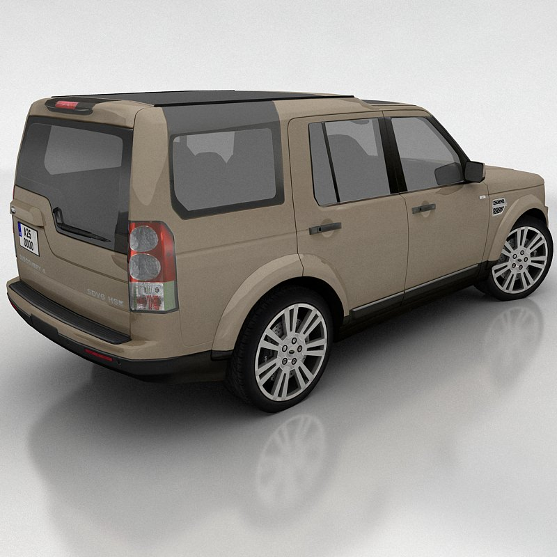 Land Rover Discovery 4 Model Low Poly Max Fbx
