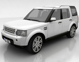land rover discovery 4 3d model low-poly max