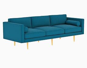West Elm Monroe Mid-Century Sofa 3D model