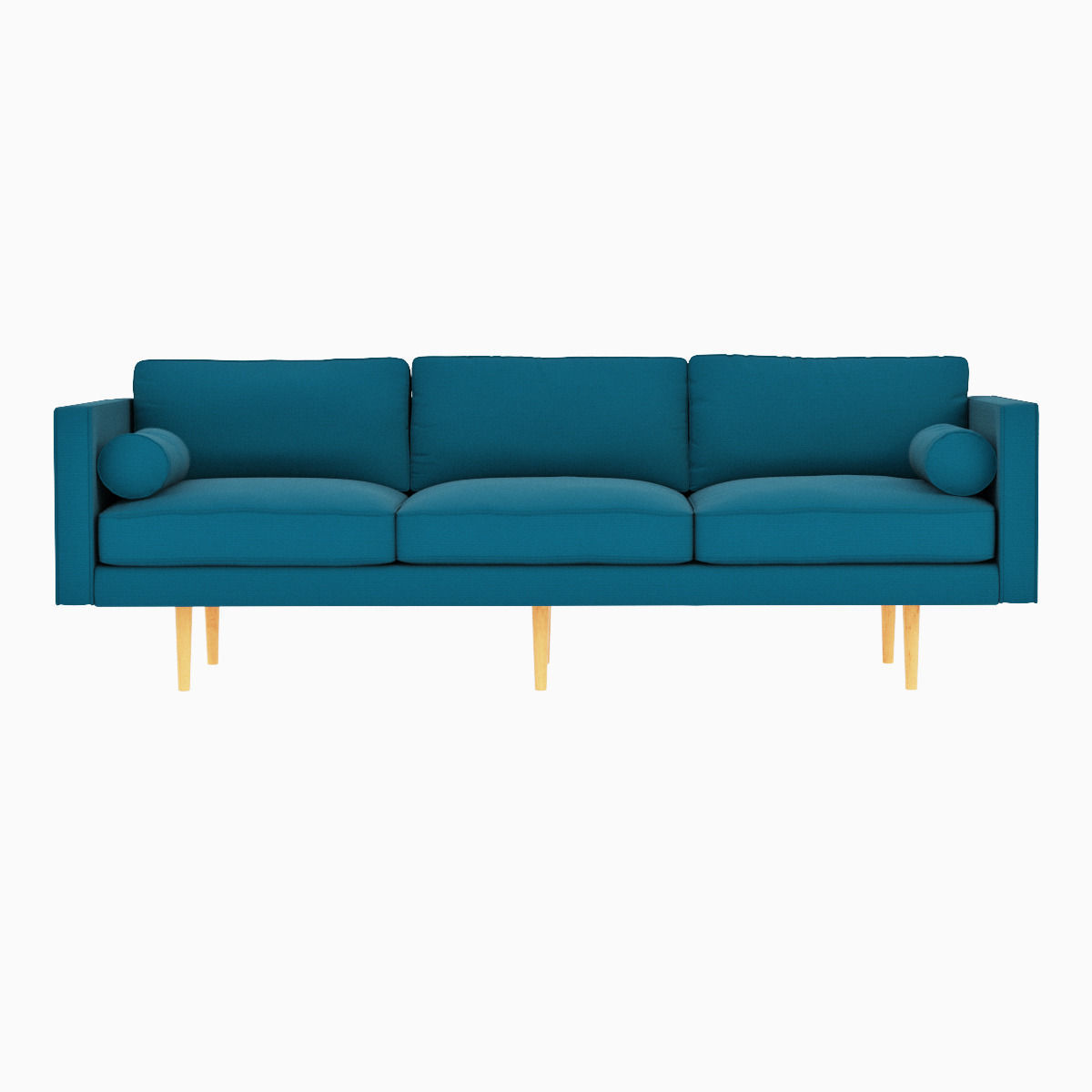 west elm monroe mid century sofa 3d model max obj fbx mtl. Black Bedroom Furniture Sets. Home Design Ideas