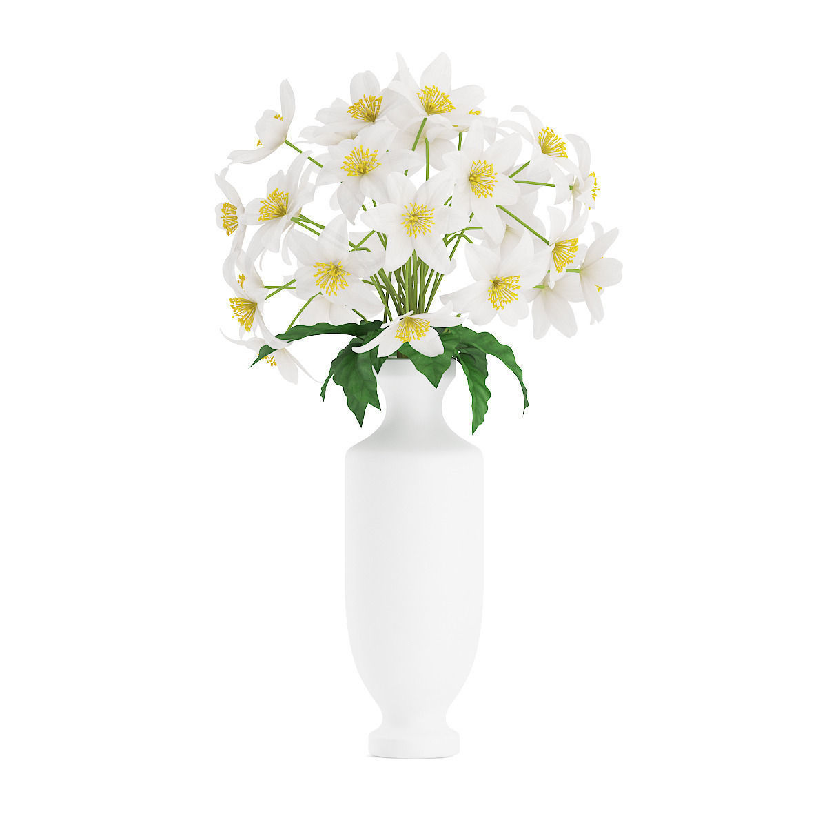 White flowers in tall vase 3d cgtrader white flowers in tall vase 3d model max obj fbx c4d mtl 1 reviewsmspy