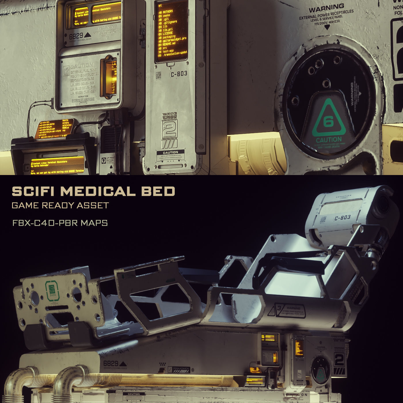 Scifi Medical Bed - Game Ready