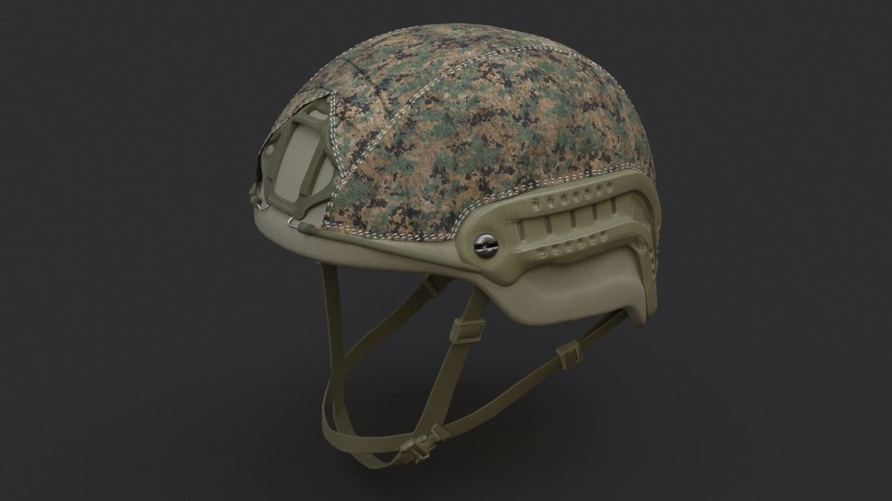 Ops Core Sentry helmet foliage green with marpat camo