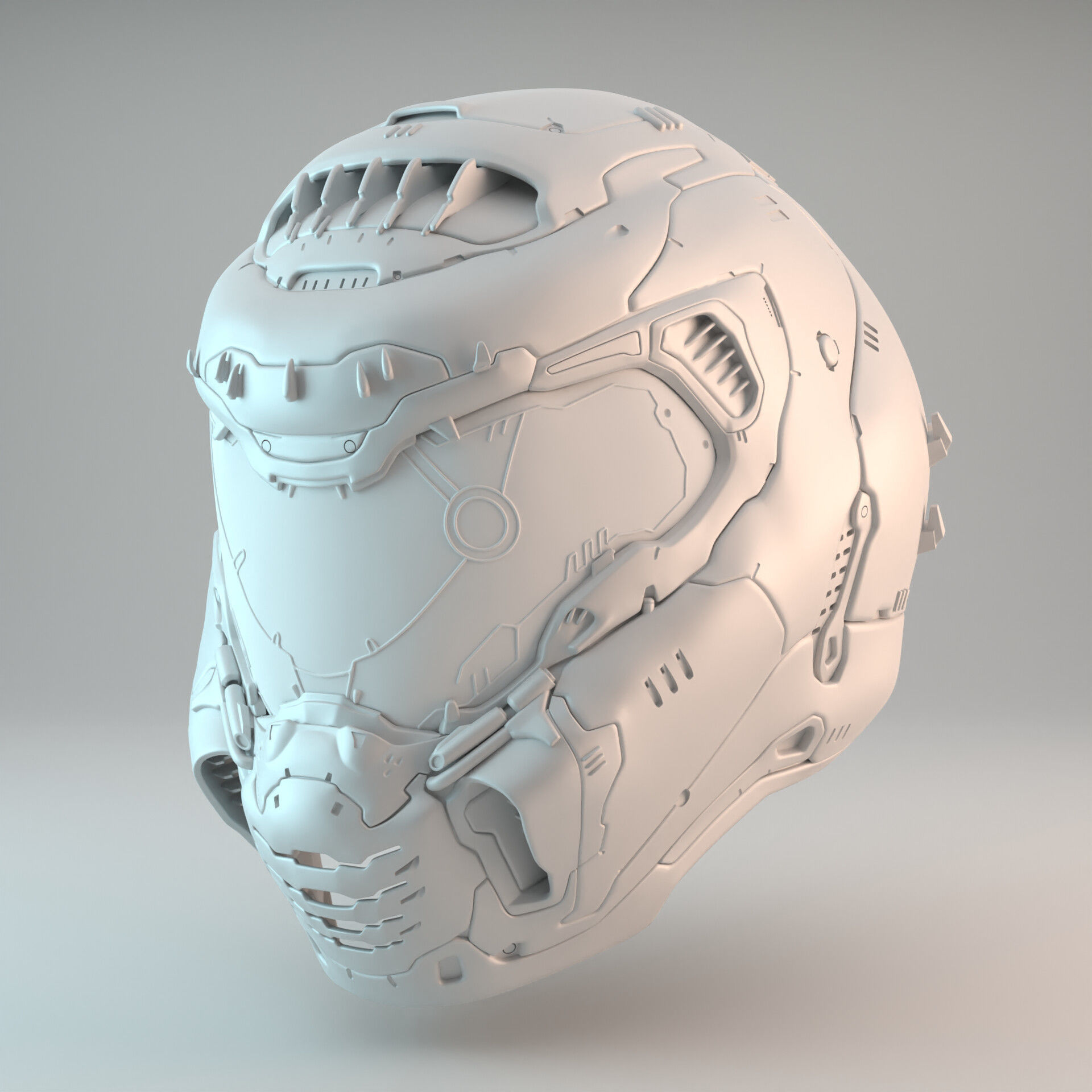 Doom Eternal Slayer Helmet 3d Print Model Cgtrader
