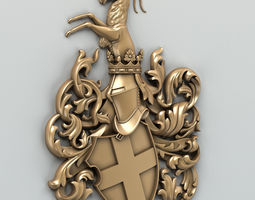 Coat of arms decorative 001 3D model