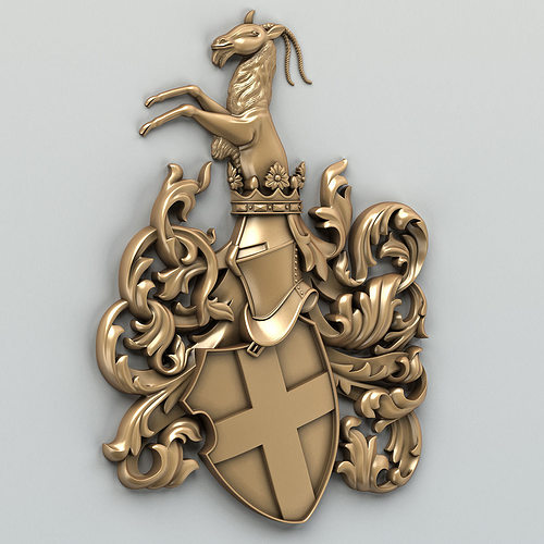 coat of arms decorative 001 3d model max obj mtl fbx stl 1