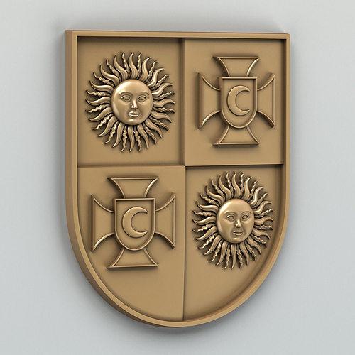 coat of arms of vinnitsa region ukraine 3d model max obj fbx stl 1