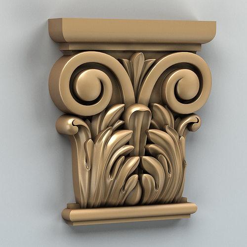 column capital 001 3d model max obj fbx stl 1