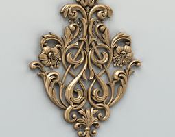 3D Carved decor central 002