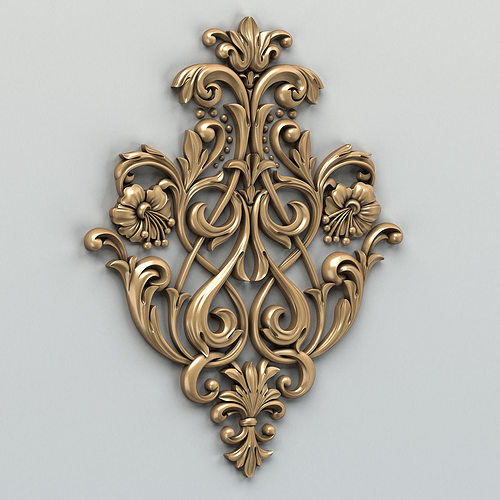 carved decor central 002 3d model max obj mtl fbx stl 1