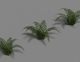 green fern set 3d model obj fbx blend