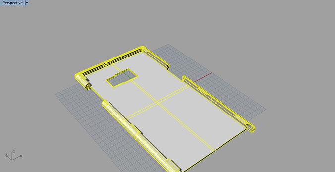 samsung galaxy s6 edge plus case 3d model stl 3dm 1