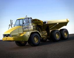3d model articulated dump truck caterpillar 725