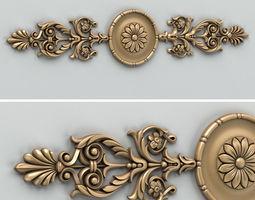 3D Carved decor horizontal 001