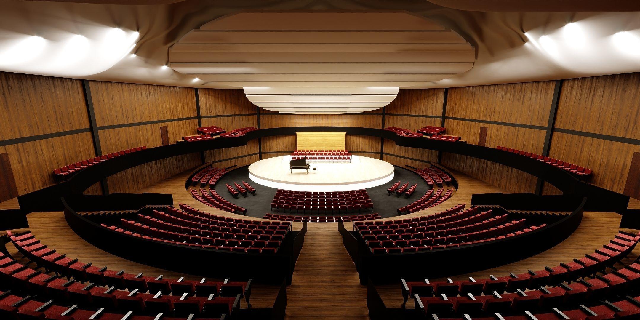 Concert Hall Amphitheater VR Baked Corona Max Scene