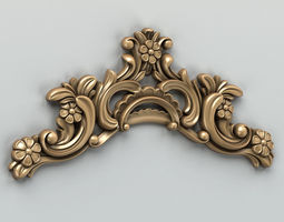 3D model Carved decor horizontal 004