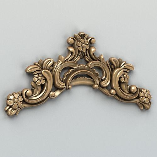 carved decor horizontal 004 3d model max obj mtl fbx stl 1