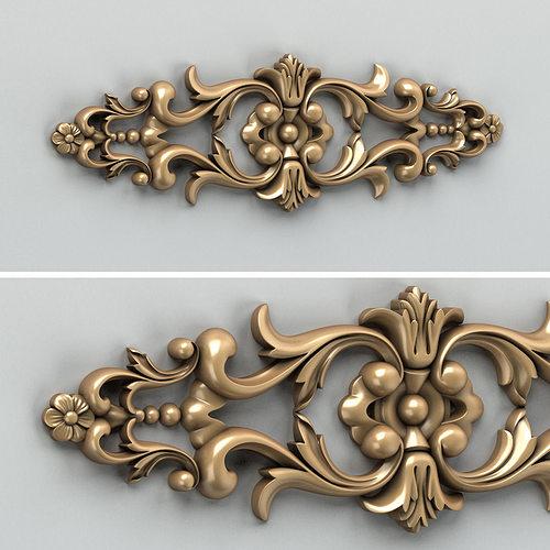 carved decor horizontal 005 3d model max obj fbx stl 1